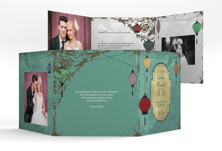 "Dankeskarte Hochzeit ""Turin"" Quadr. Karte doppelt"