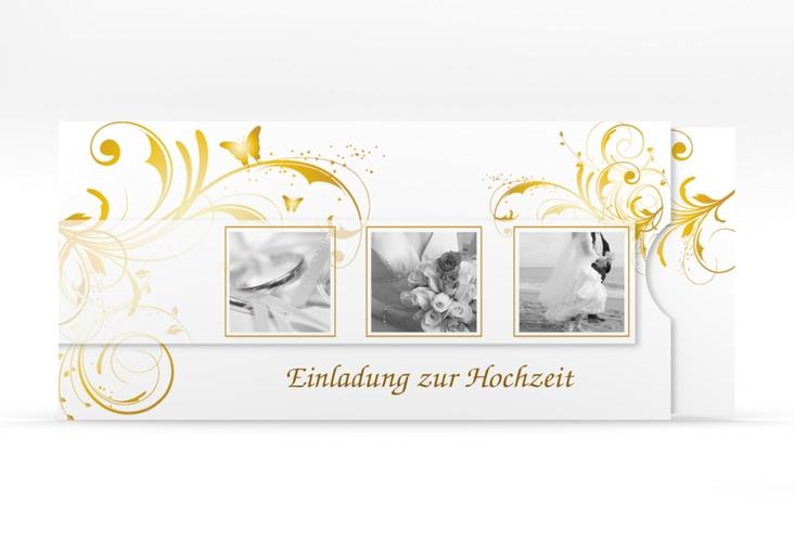 """Hochzeitseinladung """"Palma"""" Einsteckkarte gold"""