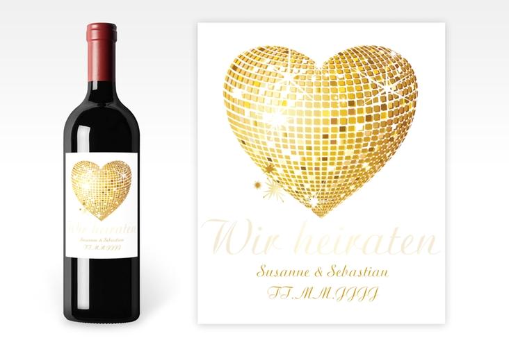 """Weinflaschenetikett Hochzeit """"Rimini"""" Etikett Weinflasche 4er Set"""