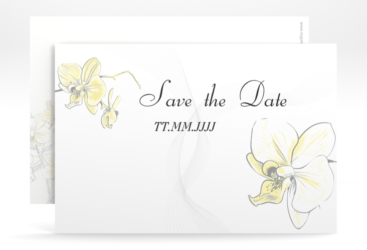 """Save the Date-Karte Hochzeit """"Modena"""" A6 quer gelb"""