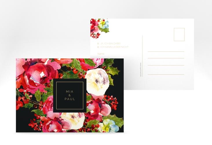 """Antwortkarte Hochzeit """"Blumenpracht"""" A6 Postkarte"""