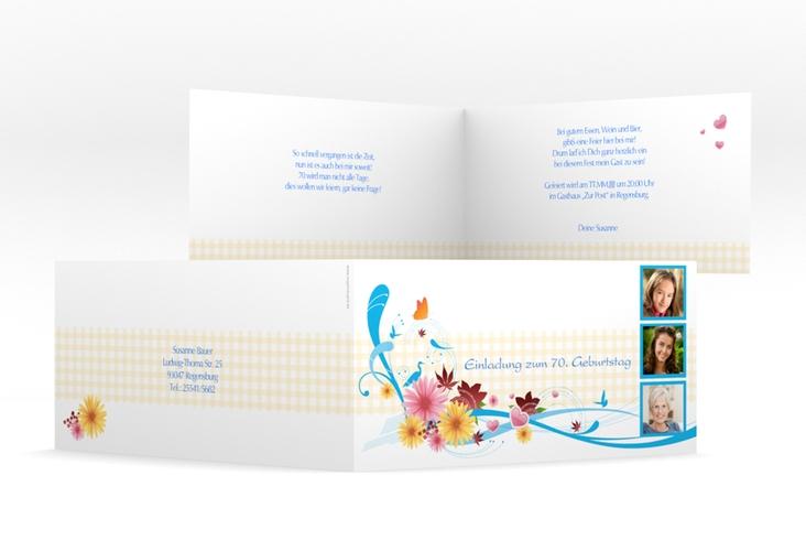 "Einladungskarte ""Elisabeth"" DIN lang Klappkarte"