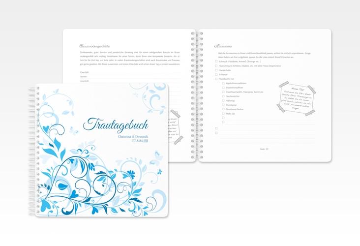 "Trautagebuch Hochzeit ""Lilly"" Trautagebuch Hochzeit blau"