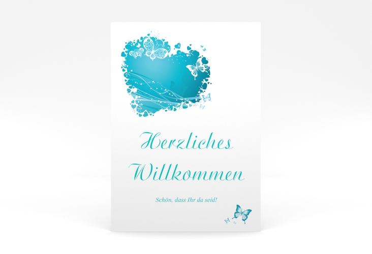 """Willkommensschild Poster """"Mailand"""" 50 x 70 cm Poster tuerkis"""