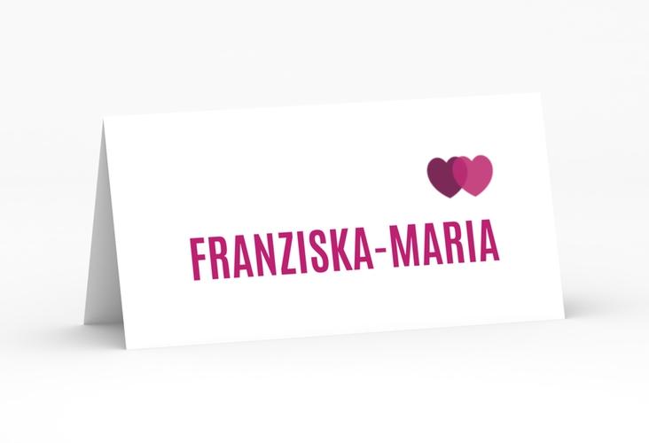 """Tischkarte Hochzeit """"Couple"""" Tischkarten pink"""