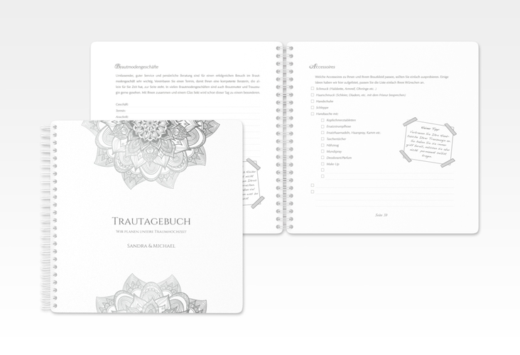 """Trautagebuch Hochzeit """"Delight"""" Trautagebuch Hochzeit grau"""