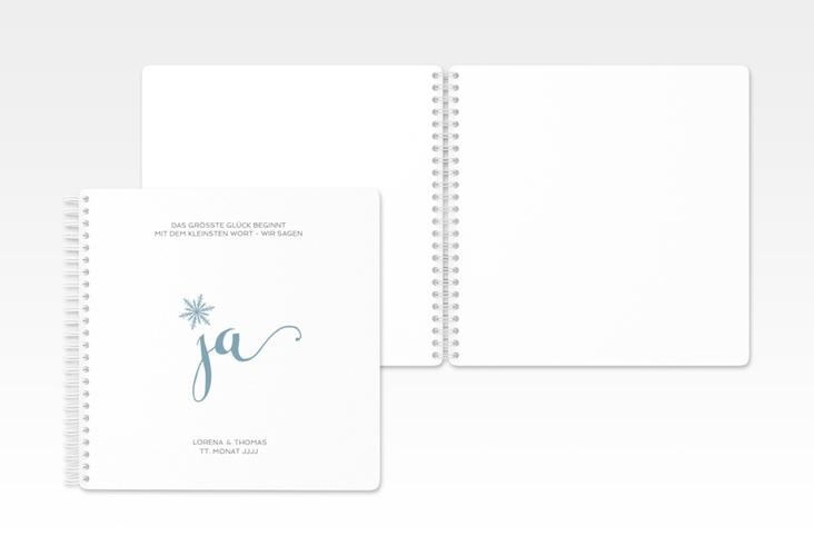 """Gästebuch Hochzeit """"Snowflake"""" Ringbindung"""