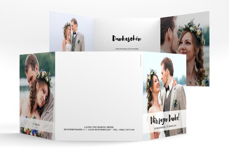 "Dankeskarte Hochzeit ""Mirage"" Quadr. Karte doppelt"