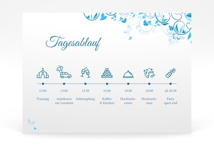 """Tagesablauf Poster Hochzeit """"Lilly"""" 70 x 50 cm Poster blau"""