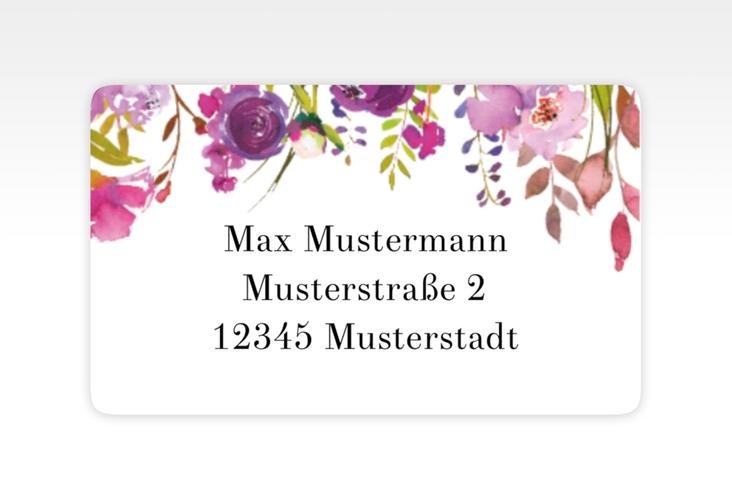 """Empfängeretikett Hochzeit """"Violett"""" 63,5 x 38,1 mm"""