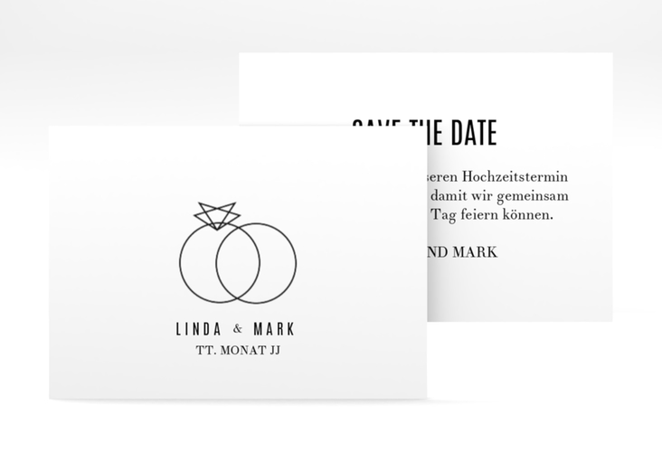 "Save the Date-Visitenkarte ""Rings"" Visitenkarte"