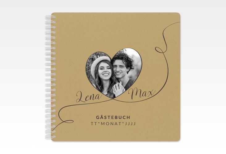 """Gästebuch Hochzeit """"Herzensbund"""" Ringbindung"""