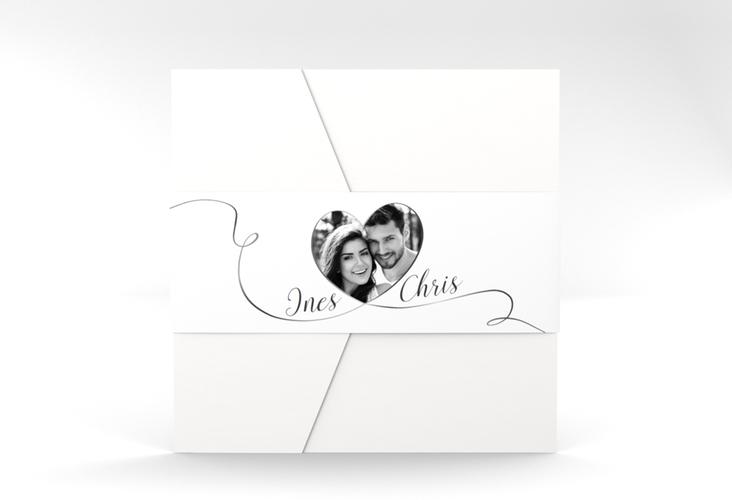 """Hochzeitseinladung """"Dolce"""" Pocketfold weiss"""