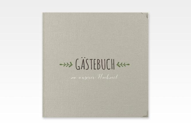 """Gästebuch Selection Hochzeit """"Eden"""" Hardcover gruen"""