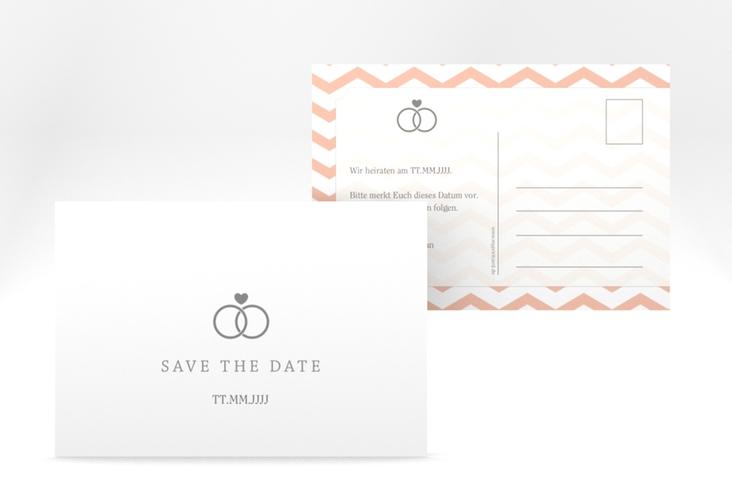 "Save the Date-Postkarte ""Avery"" A6 Postkarte weiss"