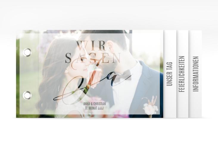"""Hochzeitseinladung """"Amazing"""" Booklet weiss"""