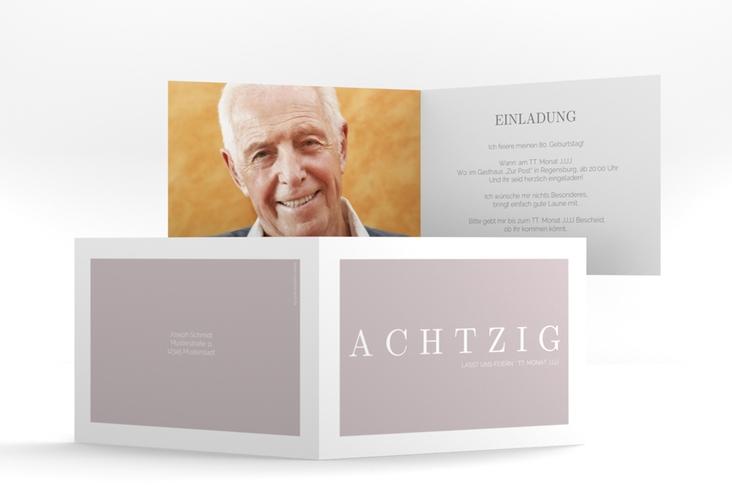 """Einladungskarte """"Schlicht"""" A6 Klappkarte Quer"""