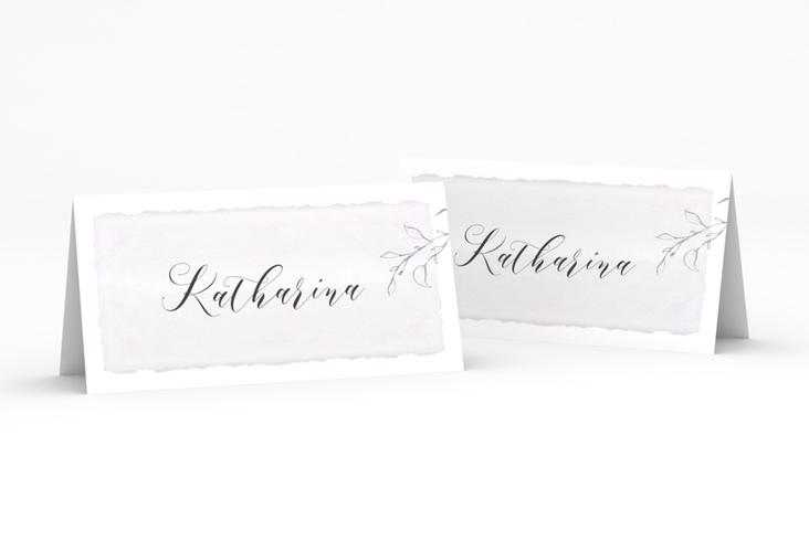 """Tischkarte Hochzeit """"Villa"""" Tischkarten flieder"""