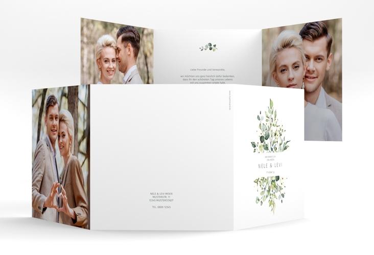 "Dankeskarte Hochzeit ""Enchanting"" Quadr. Karte doppelt weiss"