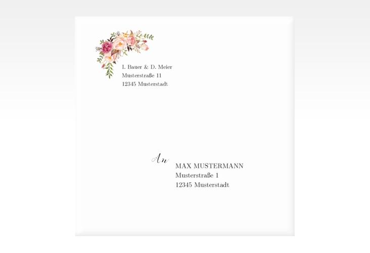 """Kuvert quadratisch """"Flowers"""" Quadratisch"""