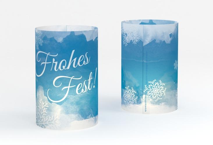 """Windlicht Weihnachten """"Eisblume"""" Windlicht blau"""