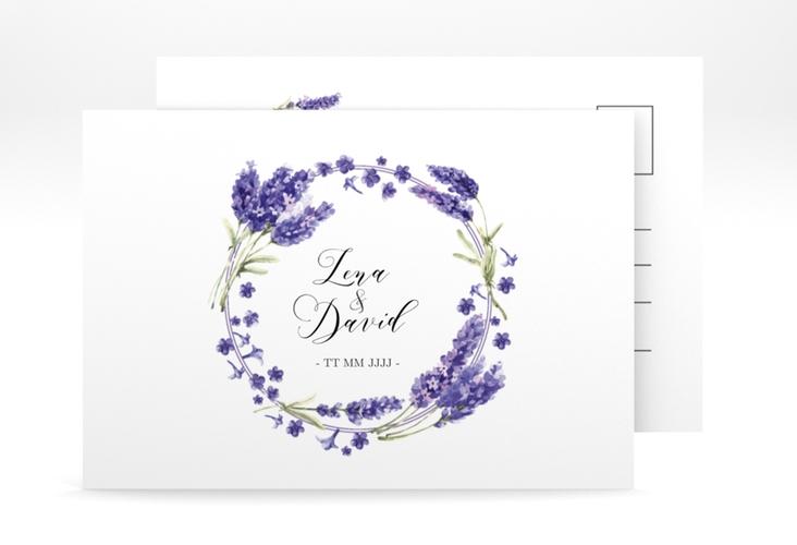 """Antwortkarte Hochzeit """"Lavendel"""" A6 Postkarte"""