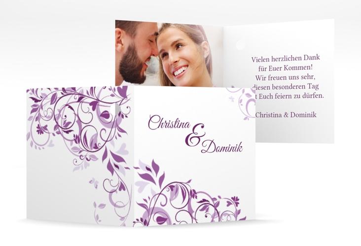 "Geschenkanhänger Hochzeit ""Lilly"" Geschenkanhänger 10er Set lila"