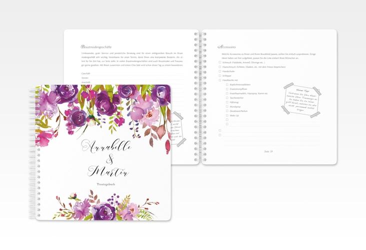"""Trautagebuch Hochzeit """"Violett"""" Trautagebuch Hochzeit"""
