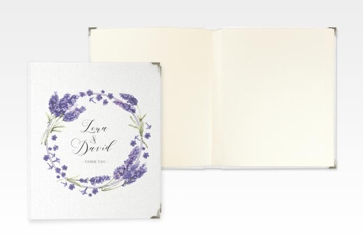 """Hochzeitsalbum """"Lavendel"""" 21 x 25 cm"""