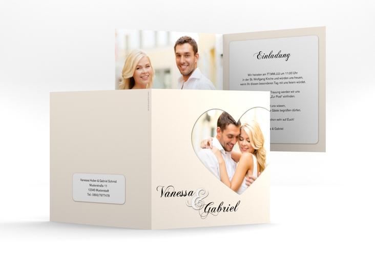 "Hochzeitseinladung ""Sweetheart"" Quadratische Klappkarte"