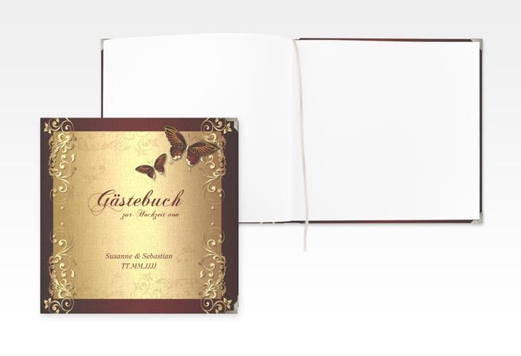 "Gästebuch Selection Hochzeit ""Toulouse"" Leinen-Hardcover rot"