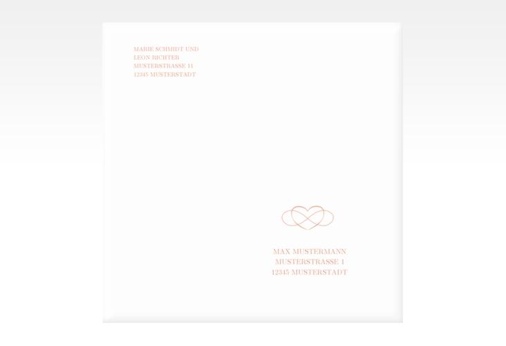 """Kuvert quadratisch """"Infinity"""" Quadratisch apricot"""