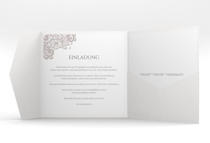 """Hochzeitseinladung """"Vintage"""" Pocketfold"""