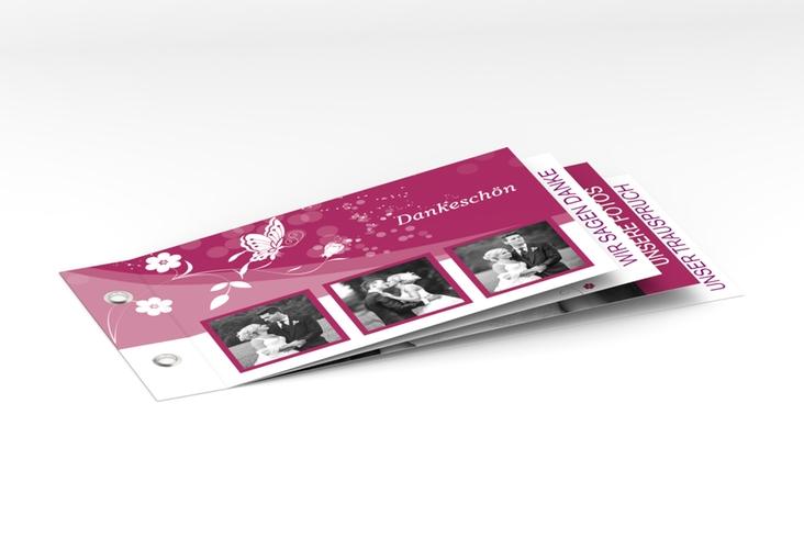 """Danksagungskarte Hochzeit """"Verona"""" Booklet pink"""