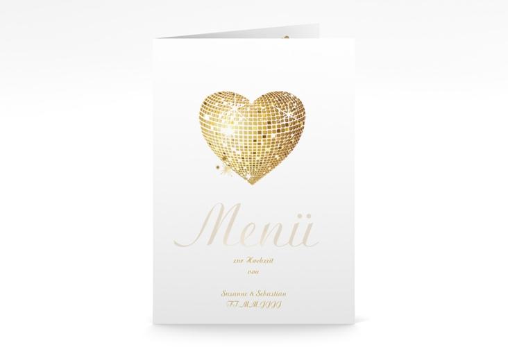 "Menükarte Hochzeit ""Rimini"" DIN A5 geklappt"