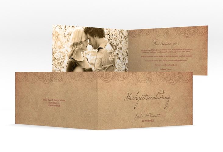 """Hochzeitseinladung """"Fairytale"""" DIN lang Klappkarte"""