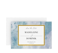 """Save the Date-Karte """"Marble"""""""