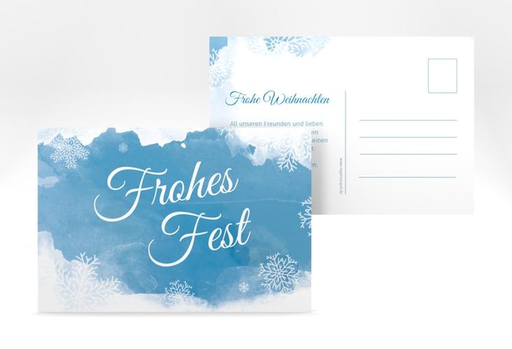 "Weihnachtskarte ""Eisblume"" A6 Postkarte"