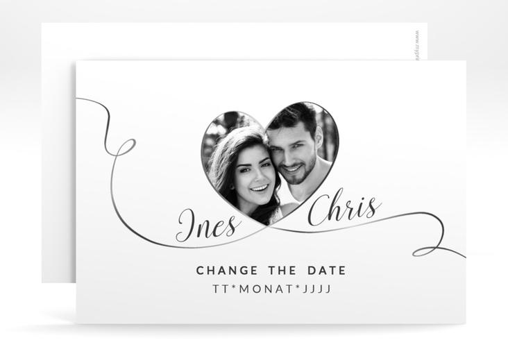 """Change the Date-Karte Hochzeit """"Dolce"""" A6 quer"""