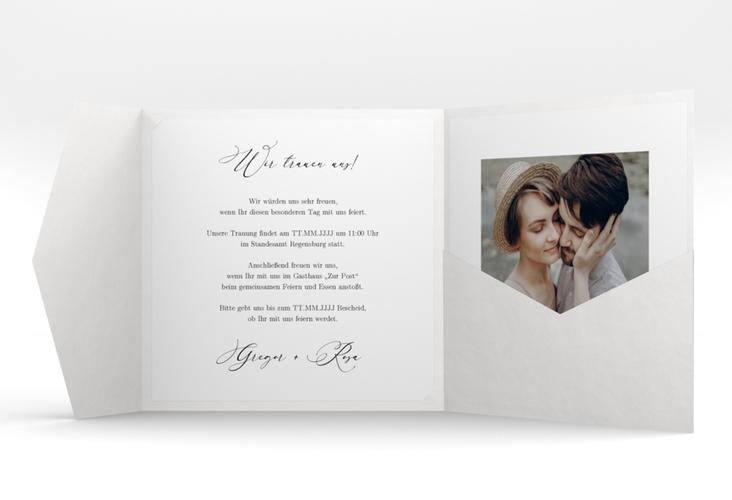 """Hochzeitseinladung """"Demure"""" Pocketfold"""