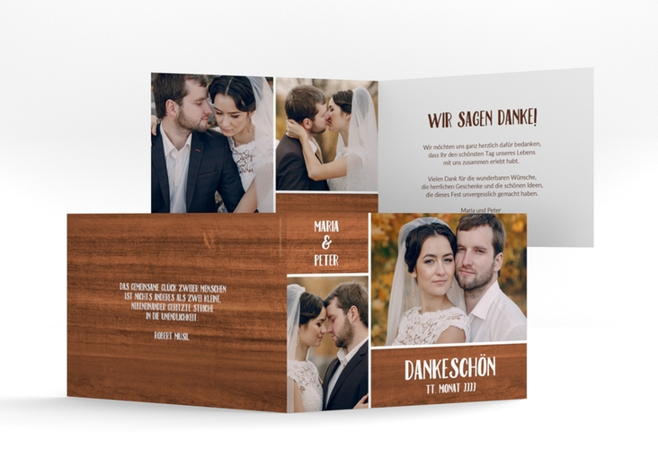 "Danksagungskarte Hochzeit ""Landliebe"" A6 Klappkarte Quer"