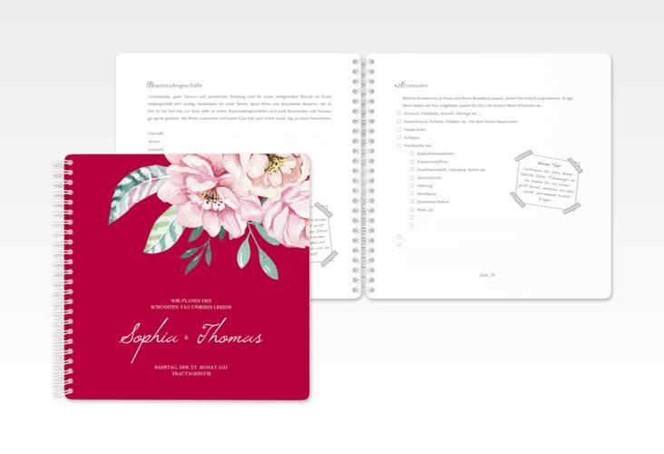"""Trautagebuch Hochzeit """"Blooming"""" Trautagebuch Hochzeit rot"""