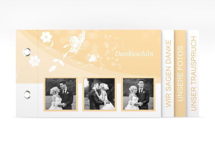 """Danksagungskarte Hochzeit """"Verona"""" Booklet beige"""