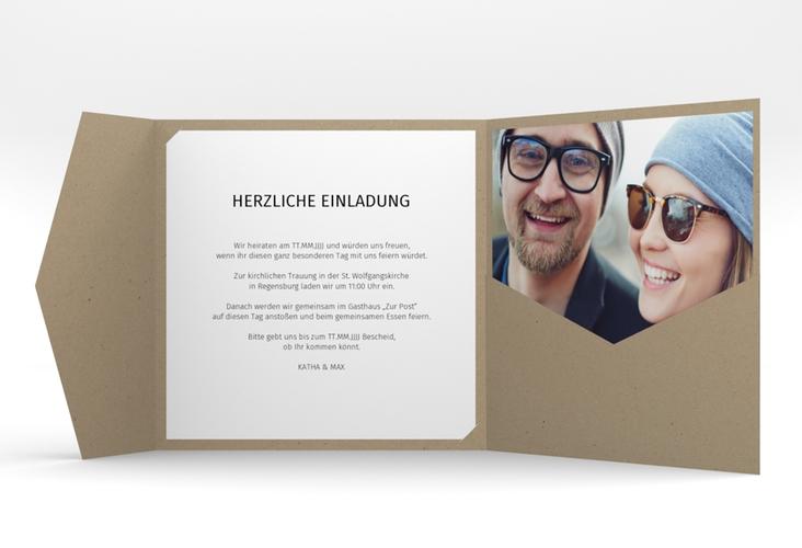 """Hochzeitseinladung """"Yes"""" Pocketfold"""