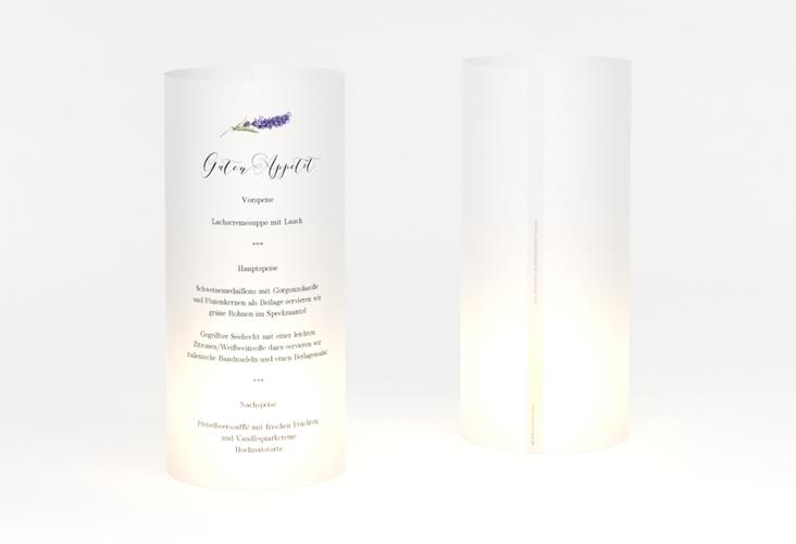 """Windlicht Menü Hochzeit """"Lavendel"""" Windlicht"""