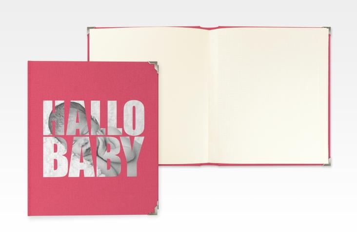 """Baby Fotoalbum """"Wunderlich"""" 21 x 25 cm pink"""