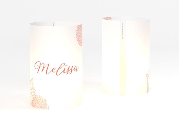 """Windlicht Hochzeit """"Muschelreich"""" Windlicht rot"""