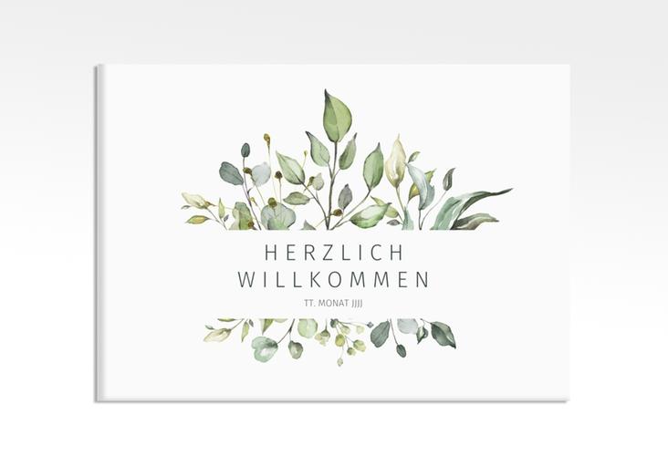 """Willkommensschild Leinwand """"Enchanting"""" 70 x 50 cm Leinwand weiss"""