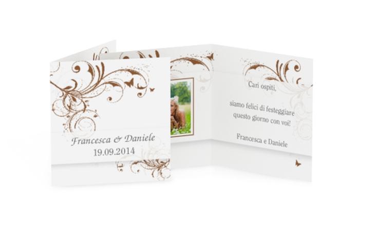 Biglietti Bomboniera matrimonio collezione Palma Geschenkanhänger 10er Set marrone