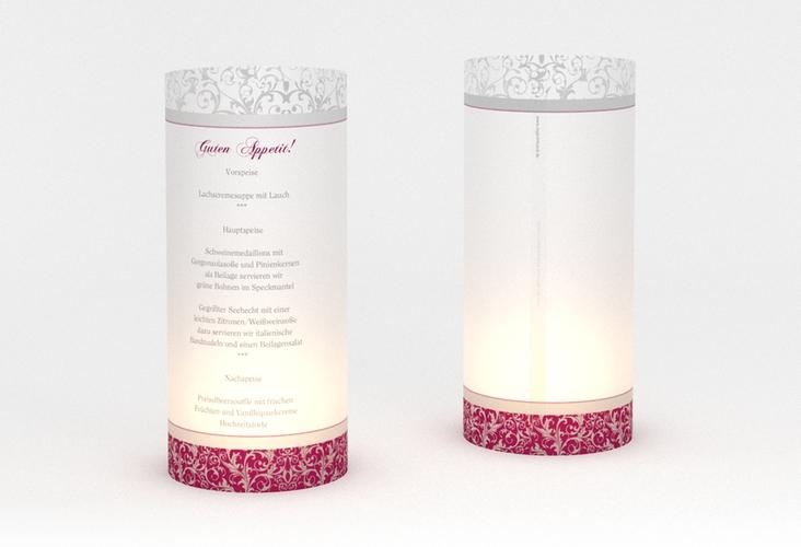 """Windlicht Menü Hochzeit """"Latina"""" Windlicht pink"""